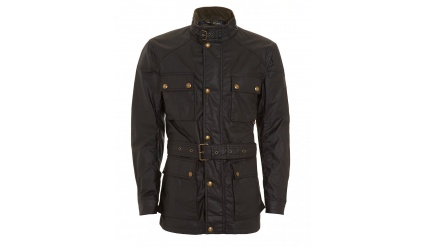 BELSTAFF Mens Roadmaster Waxed Black Jacket